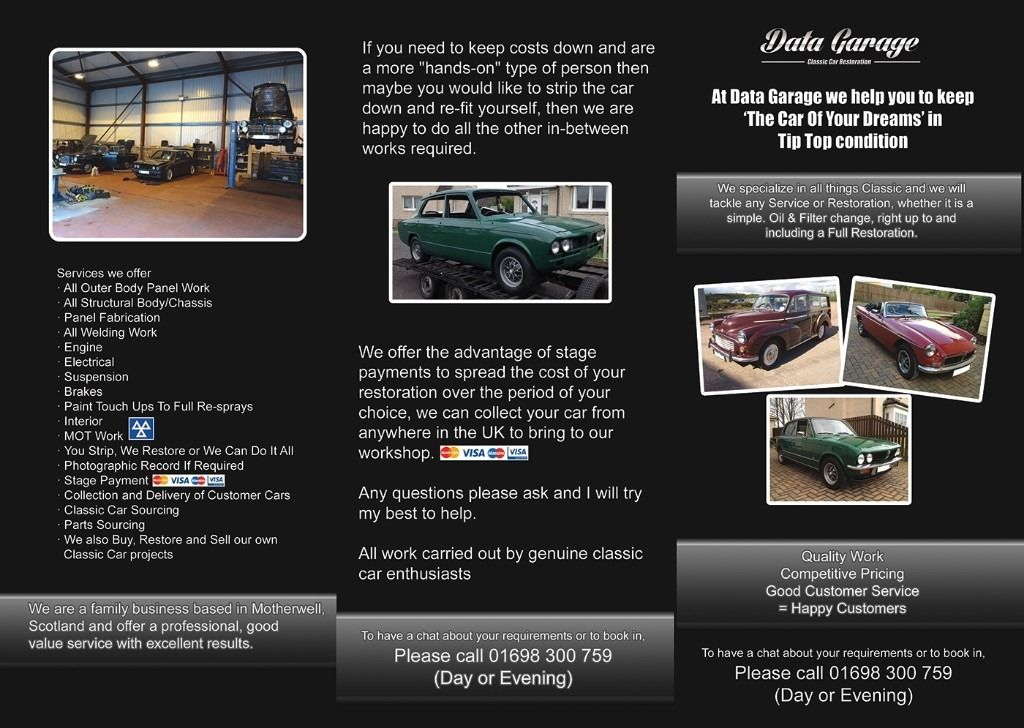 Professional Classic Car Servicing and Restoration