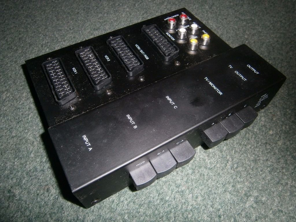 3 Way Scart Video Control Box