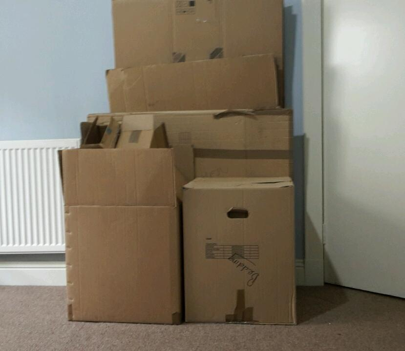 Free cardboard boxes and bubblewrap