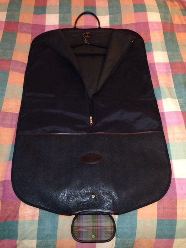 Mulberry Suit/Dress Carrier in Black Scotchgrain
