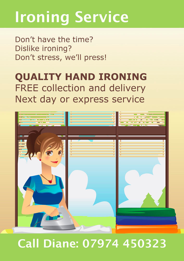 Ironing Service. Don't Stress, We'll Press! Quality Ironing, Next Day Service, Collection & Delivery