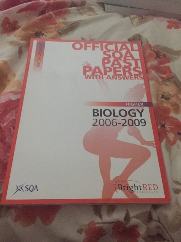 SQA higher biology past papers