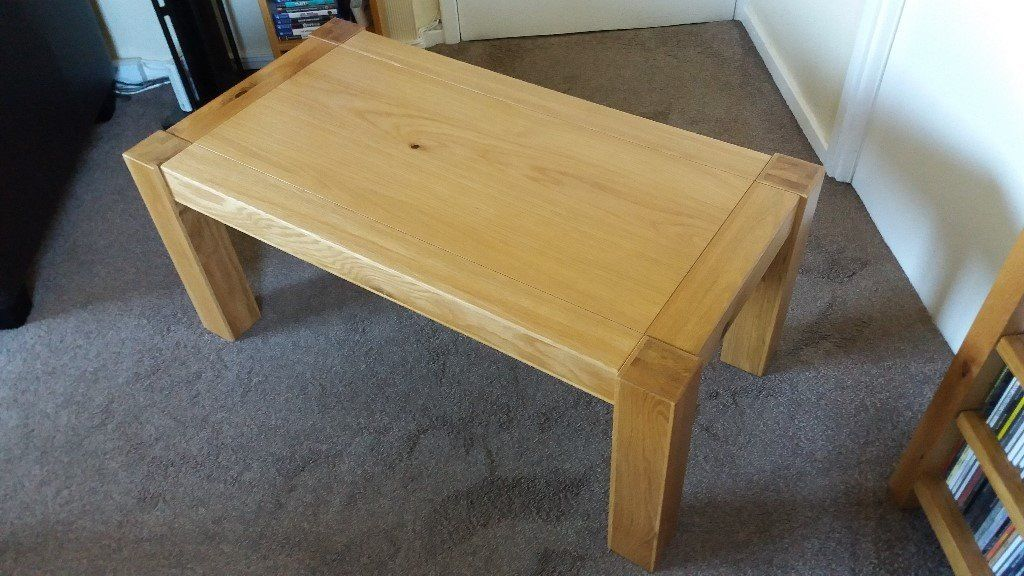 DFS Solid Oak Coffee Table