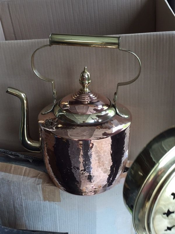 Large Copper & Brass Kettle