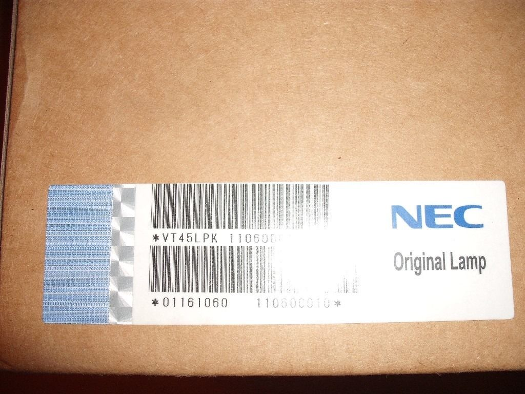 GENUINE NEC VT45LPK PROJECTOR LAMP WITH HOUSING **BRAND NEW**