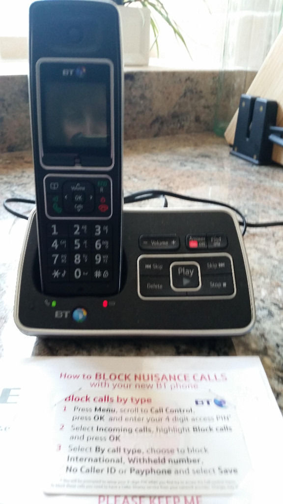 BT6500 cordless phone with answering machine