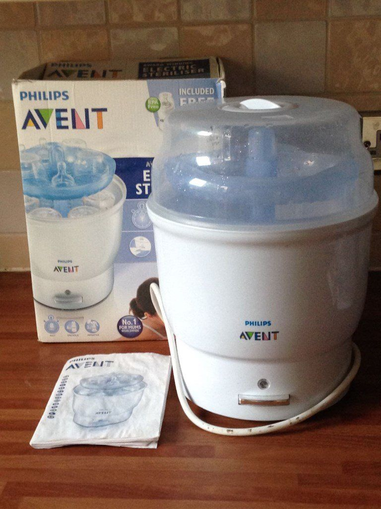 Philips Avent electric steriliser with box and instructions