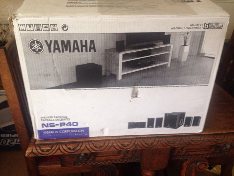 YAMAHA NS-P40 5.1 speaker system with active sub woofer.