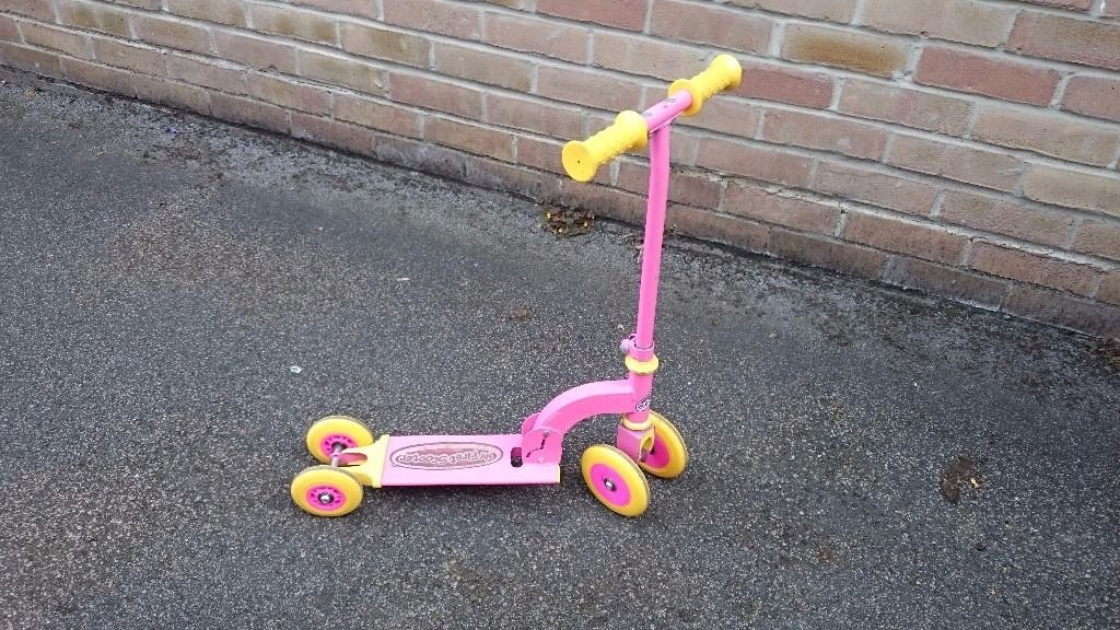 Pink first scooter