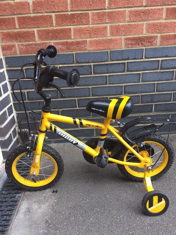 2 toddler bikes with detachable stabilisers. Yellow in colour. Good condition.