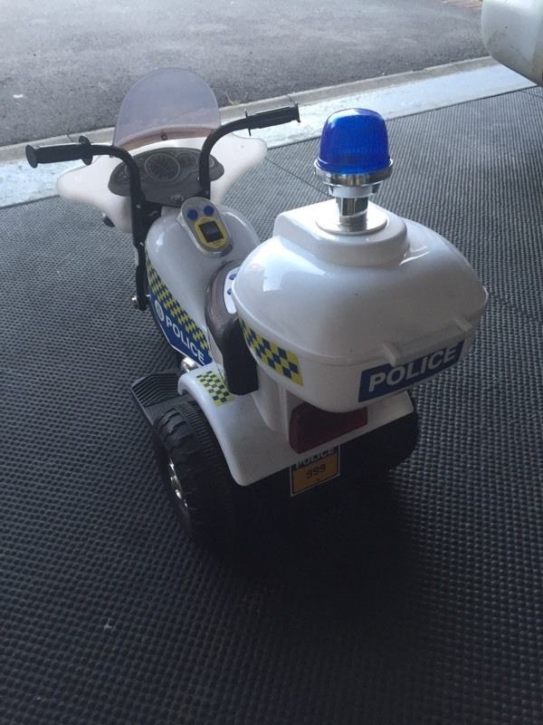Children's Electric Police Bike