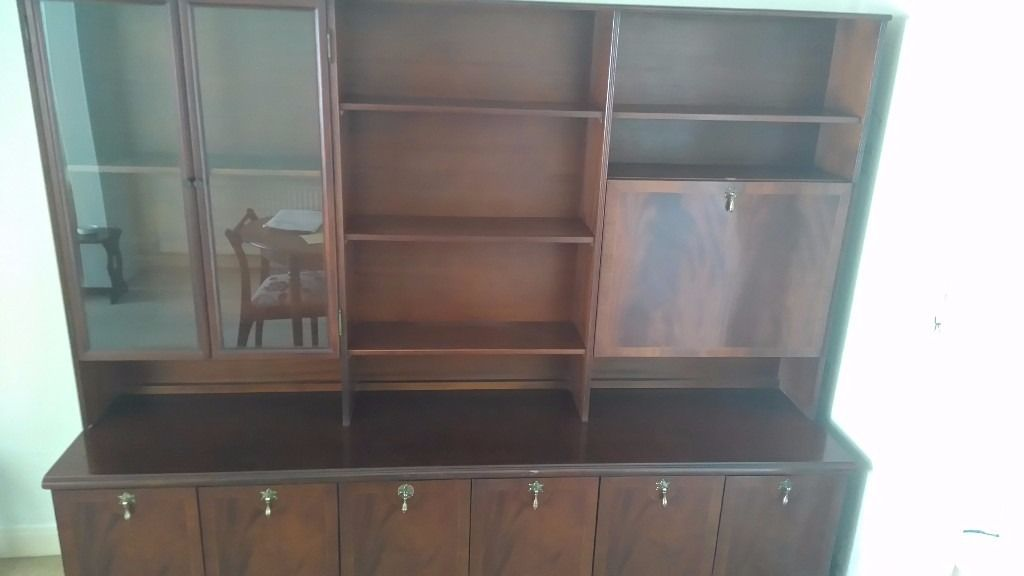 Dark hardwood side cabinet