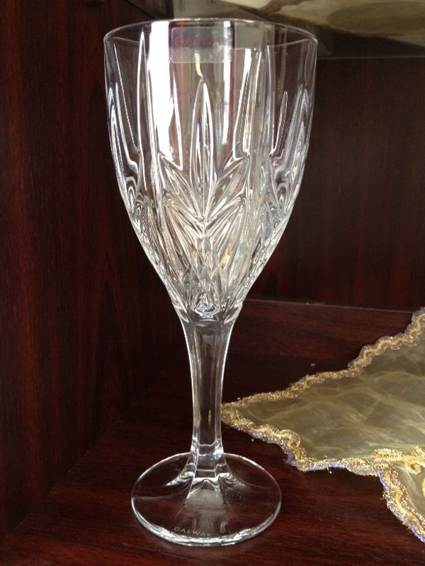 Debenhams-Set of six 'Galway ' large wine glasses