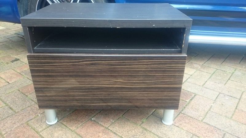 Cabinet / side table retro brown with large draw