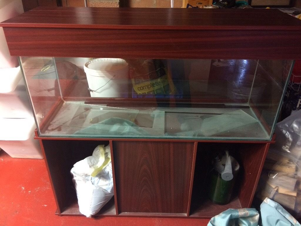 Large (4ft X 2ft) Fish tank or aquarium and stand