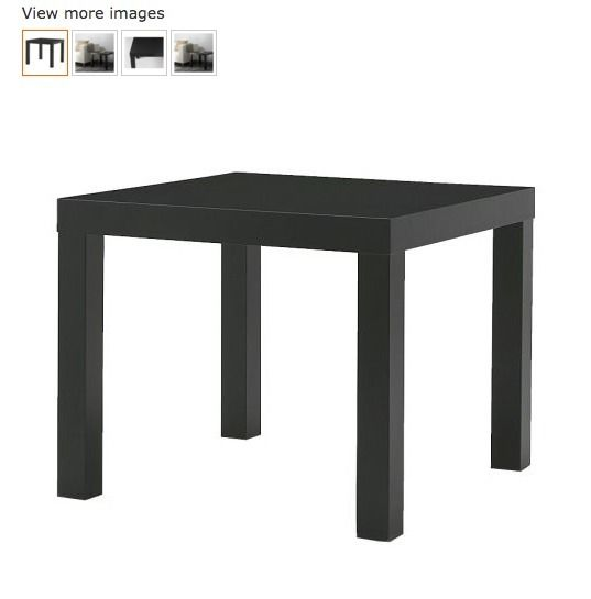 2 x Black Ikea Lack side table/ coffee table- excellent condition!