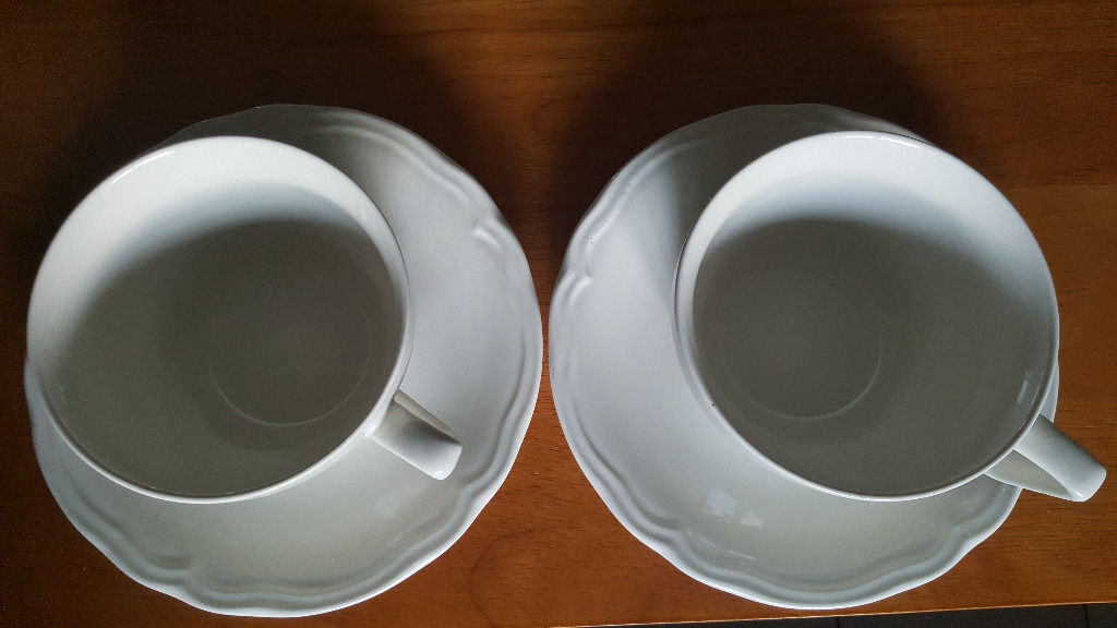 Set of two large Cup and saucers from IKEA