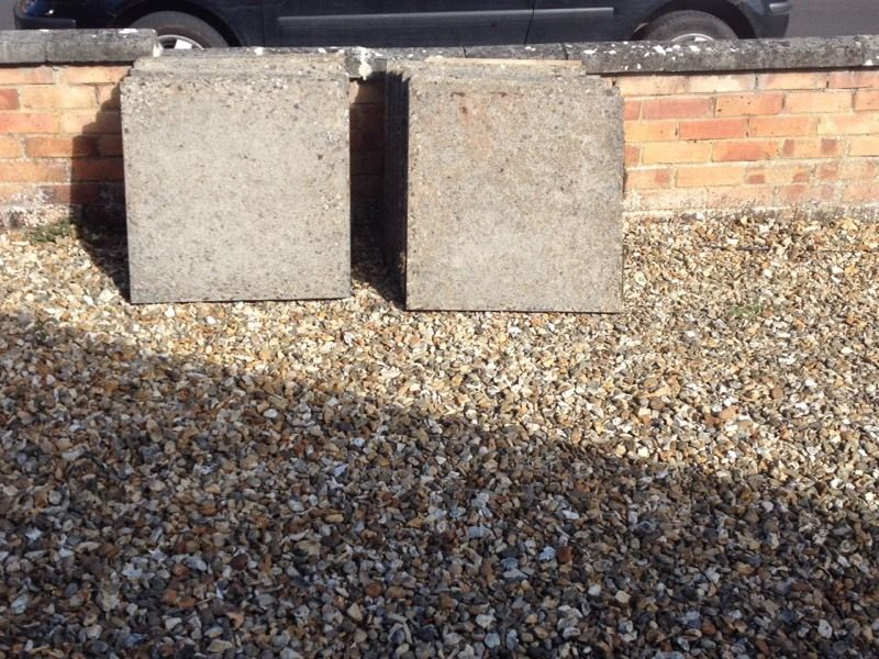 Free to collector. Paving slabs