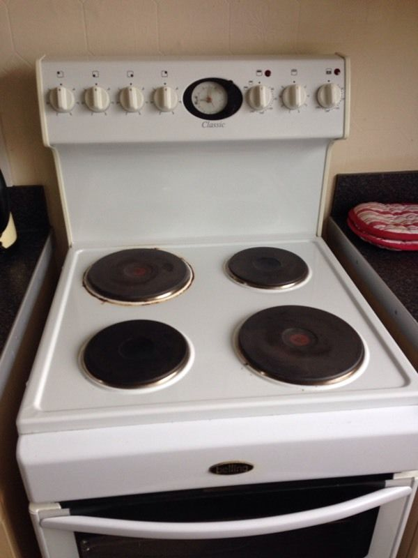 Belling electric double oven and hob fan assisted