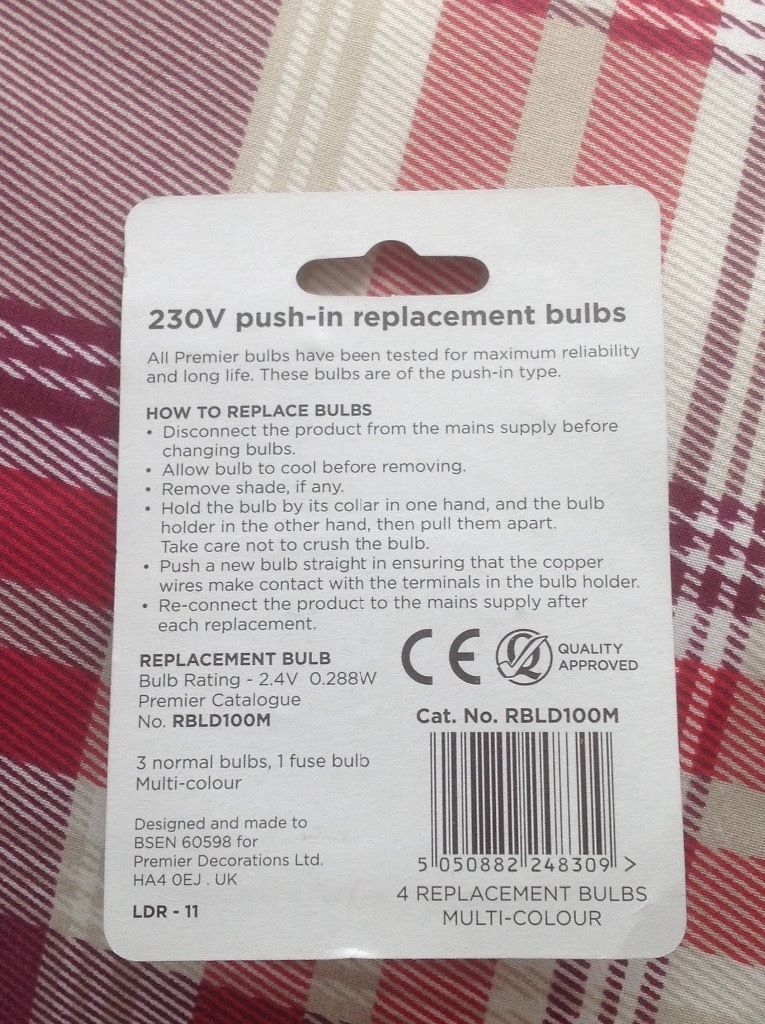 Premier push-in replacement bulbs RBLD100M