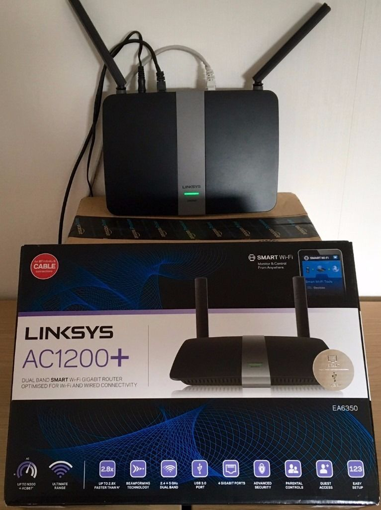 Dual band wireless router (simultaneous) AC1200 WiFi (300 + 867 Mbps)