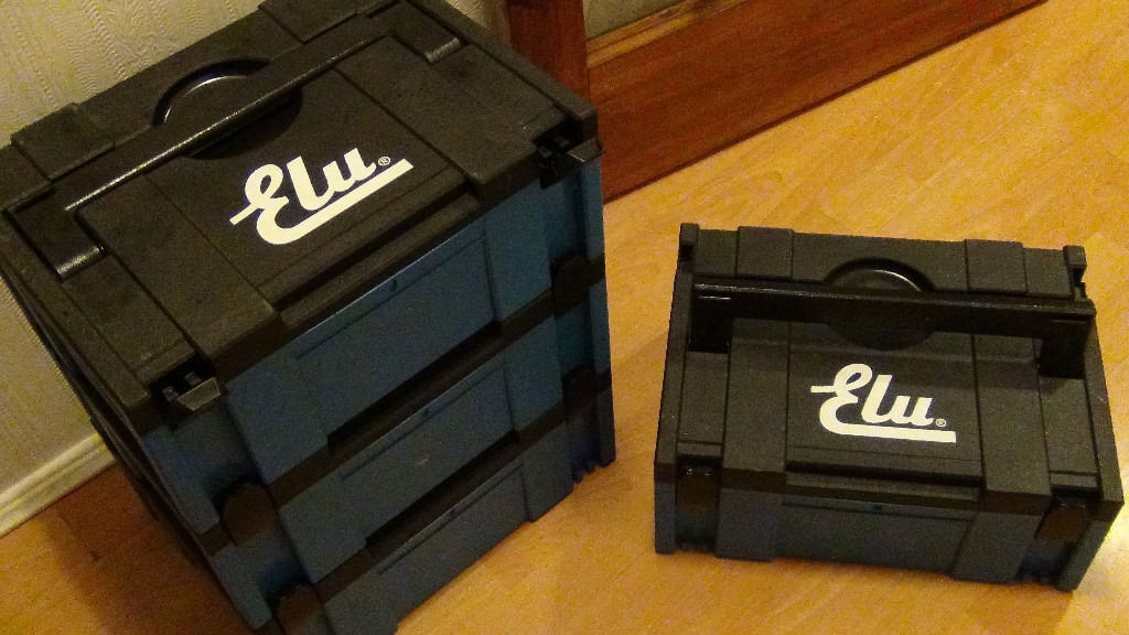 4x ELU MAKPAC Stacking Connector Tool Cases Systainer