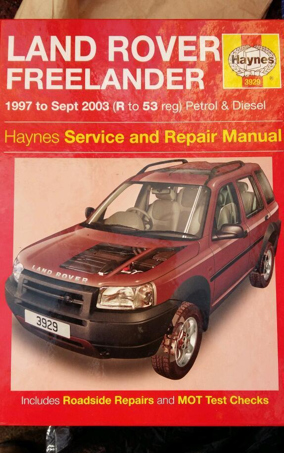 Landrovery freelander Haynes manual