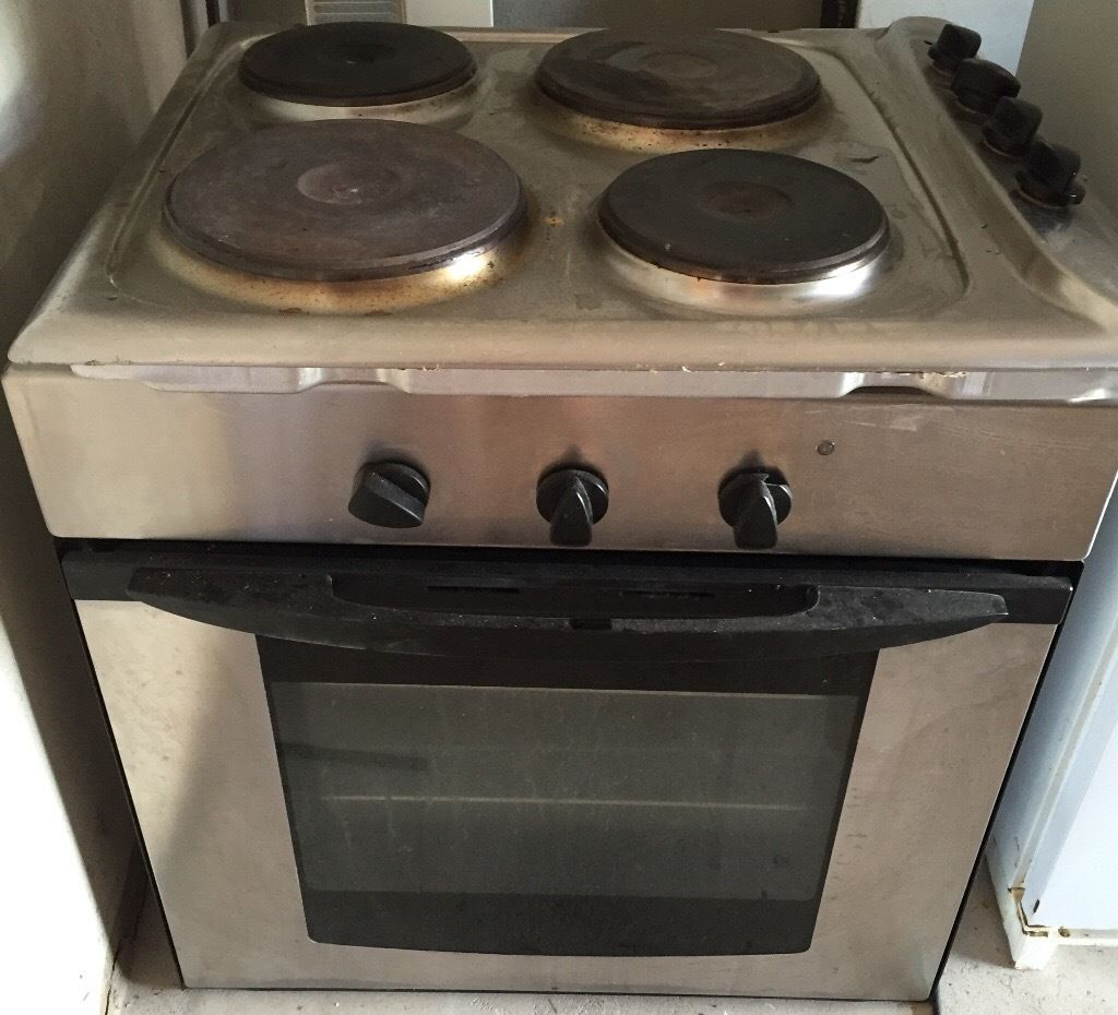 Indesit integrated hob, single fan oven/grill