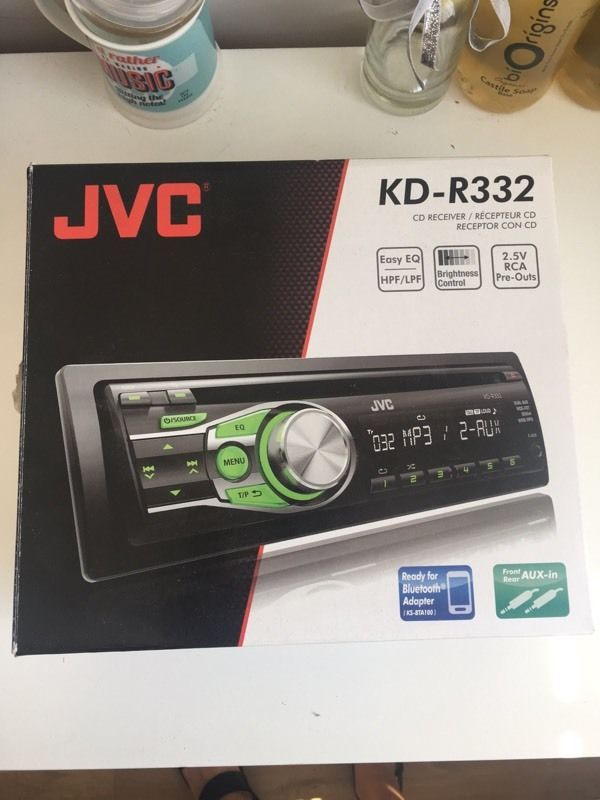 JVC CD Car Stereo with front aux input (KD-R332)