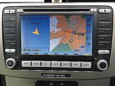 GENUINE VOLKSWAGEN/VW PASSAT/GOLF/TOURAN/CADDY MFD 2 DVD SAT NAV