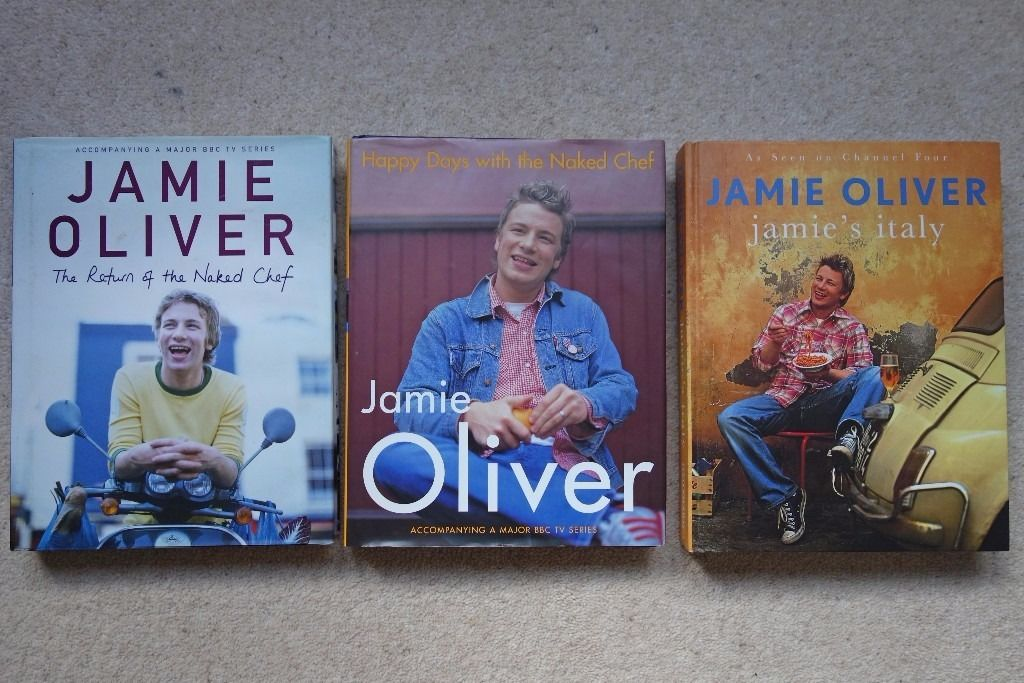 Jamie's Italy, Happy Days with the Naked Chef, Return of the Naked Chef. Jamie Oliver Bundle