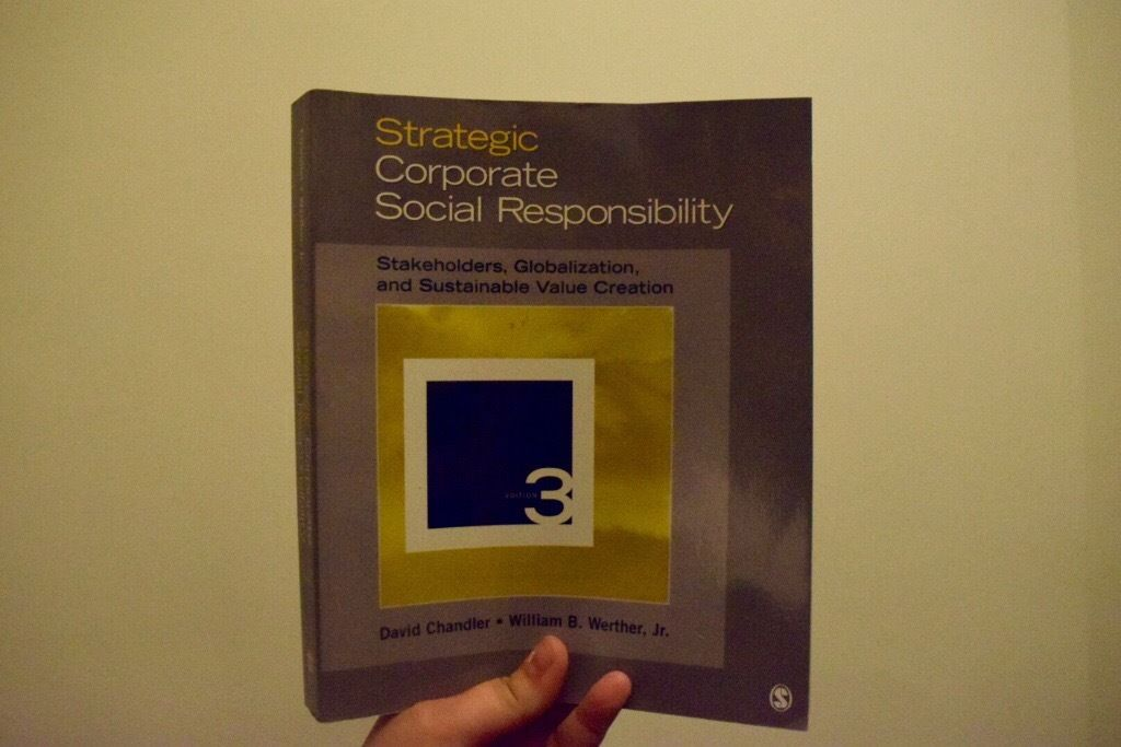 Strategic Corporate Social Responsibility Textbook For Sale