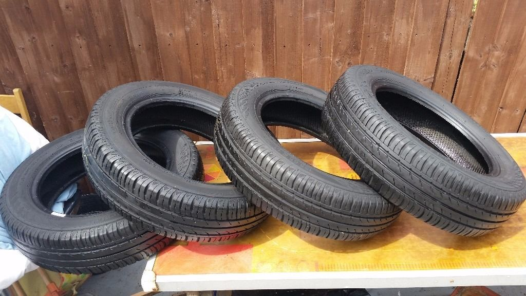 4x Continental Eco Contact 3 155/65 R 14 Tyres 5 mm thread FITs CITROEN C1 PEUGEOT 107 TOYOTA AYGO