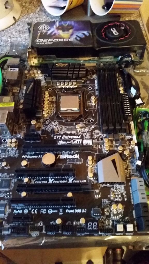 Reduced Asrock Z77 Extreme 4 Motherboard (1155) And I5 3570K Processor