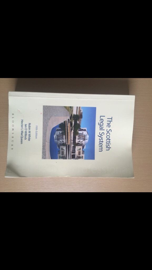 Scots Law Books (1st year)