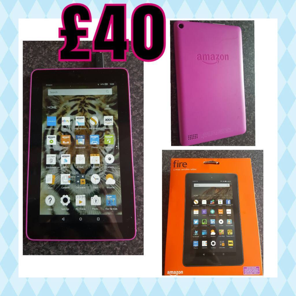 Amazon Fire Tablet Pink