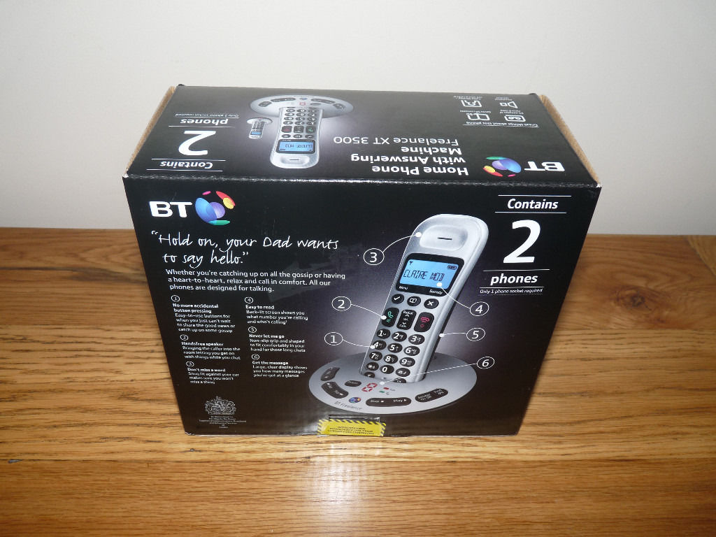 BT Home Phone with Answering Machine - Twin Phone Set - New in Box