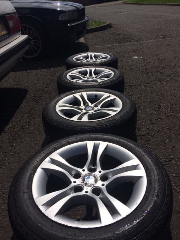 """Genuine 16"""" BMW alloys with excellent tyres!"""