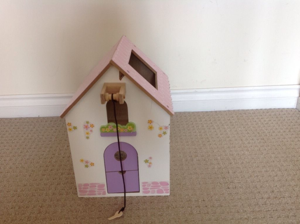 Wooden dolls house farm building from pet smoke free home