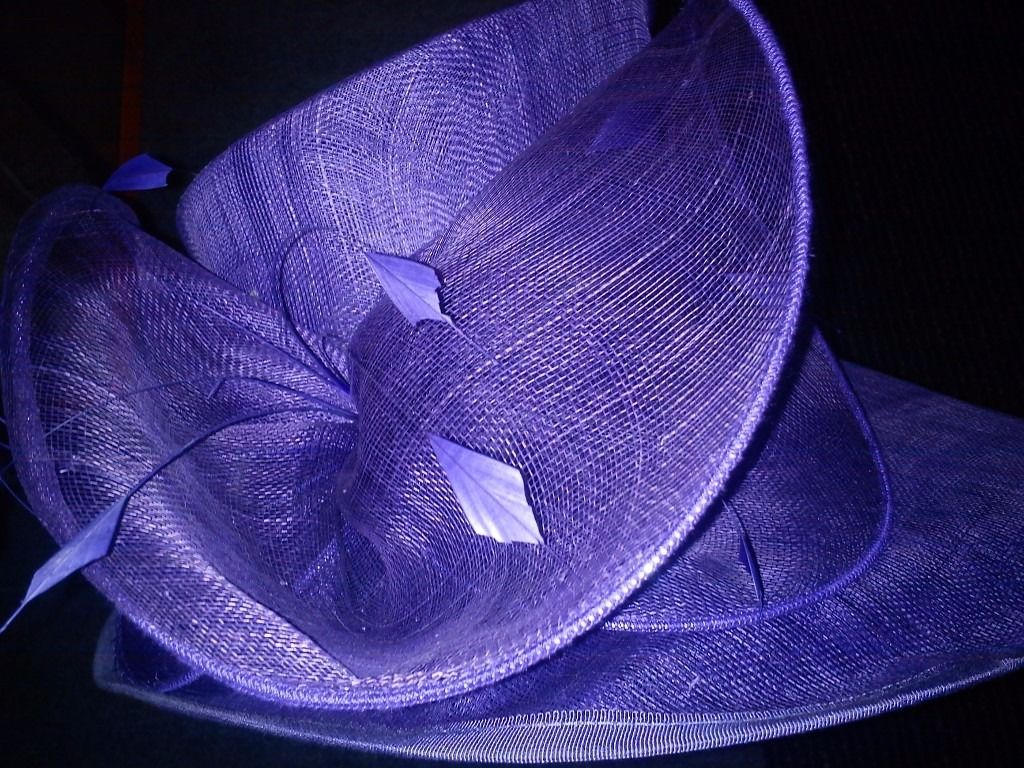 Ladies special occasion hat – purple
