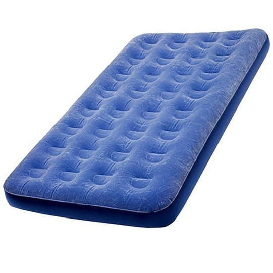 Single airbed mattress and pumps