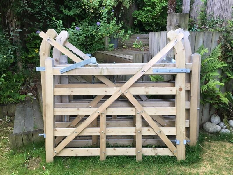 Hand crafted wooden gates