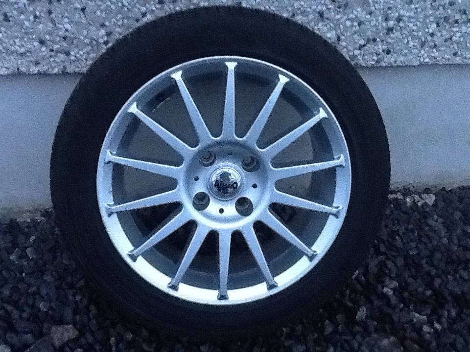 16inch 4/108 ALLESIO FORD ALLOY WHEELS WITH NEW TYRES FIT MOST MODELS