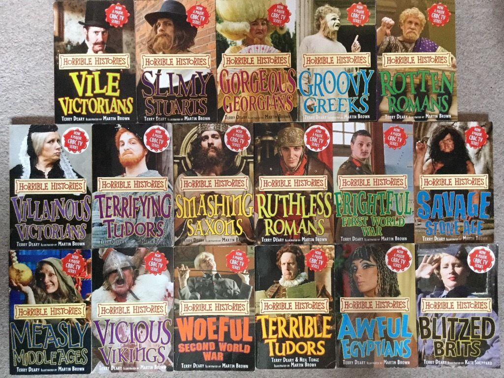 Horrible Histories Books Set - Collection of 17