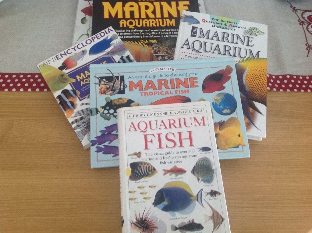 Marine fish aquarium books