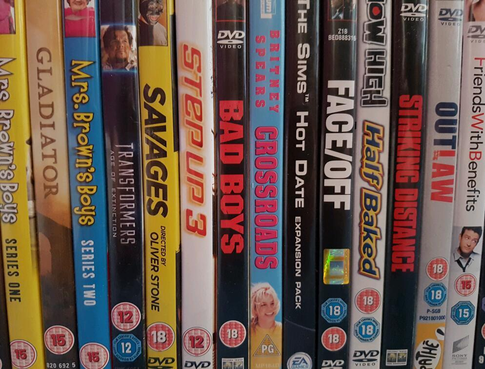 455 various dvds