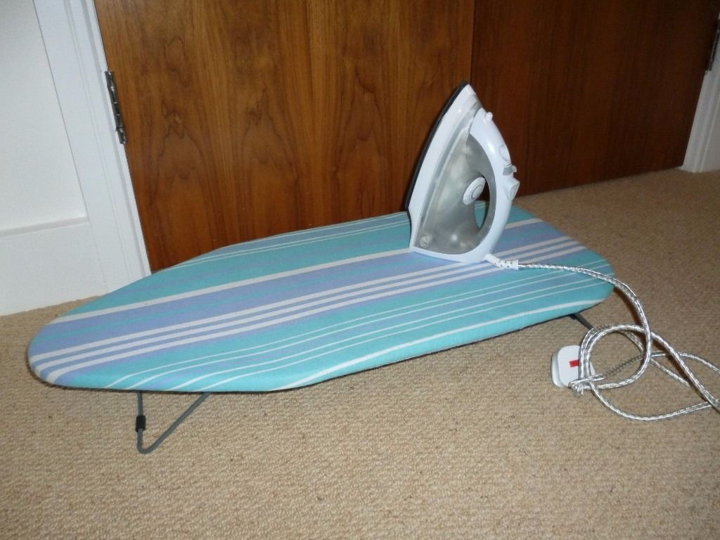 Argos Iron with Box + space saver Ironing board. Priced to sell!