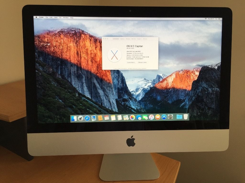 iMac 21.5 inch Desk top - Late 2102 model - 2.7 GHz Intel Core i5 - Excellent Condition