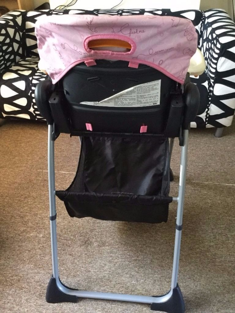 Chicco highchair pink