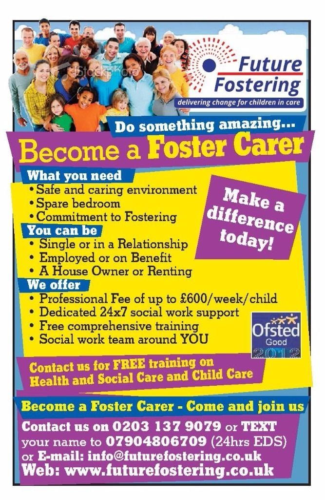 Train to be a Foster Carer to Look After Children in Need - Foster Carers Required in Northfleet